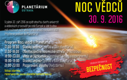 Blíží se Noc vědců a v Planetáriu Ostrava se otevřou brány do kosmu