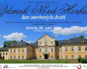 Znáte zámek Nová Horka u Studénky? Přijďte na Den otevřených dveří