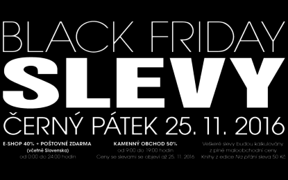 Tento pátek bude pekelně černý! Black Friday srazí ceny knih na polovinu!