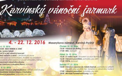 Vánoční pohoda, zábava a tradice na Karvinském jarmarku